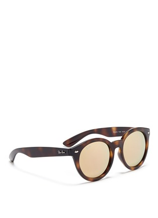 Figure View - Click To Enlarge - Ray-Ban - 'RB4261' tortoiseshell acetate mirror sunglasses
