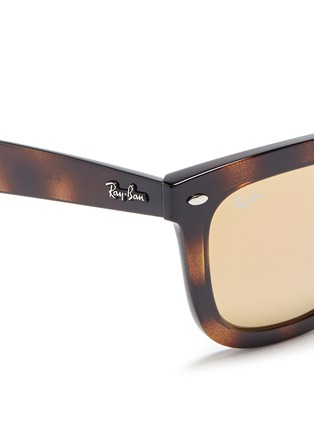 Detail View - Click To Enlarge - Ray-Ban - 'RB4262' square tortoiseshell acetate mirror sunglasses