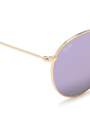 Detail View - Click To Enlarge - Ray-Ban - 'RB3447' round metal mirror sunglasses