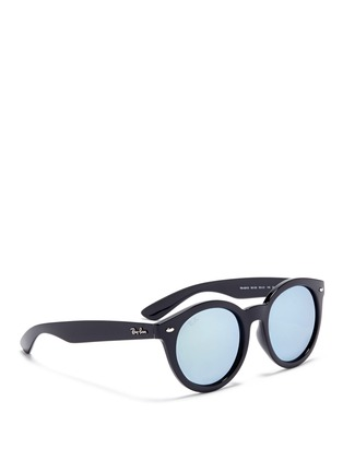 Figure View - Click To Enlarge - Ray-Ban - 'RB4261' round acetate mirror sunglasses