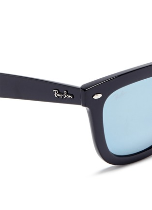 Detail View - Click To Enlarge - Ray-Ban - 'RB4262' square acetate mirror sunglasses