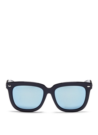 Main View - Click To Enlarge - Ray-Ban - 'RB4262' square acetate mirror sunglasses