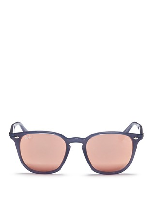 Main View - Click To Enlarge - Ray-Ban - 'RB4258' acetate square mirror sunglasses