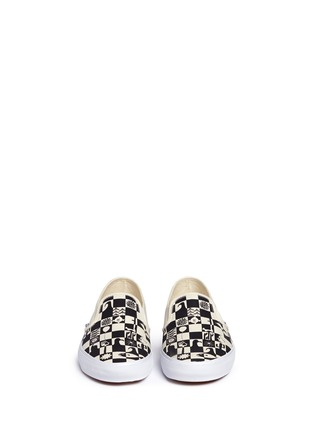 Front View - Click To Enlarge - VANS - x Yusuke Hanai check print canvas slip-ons