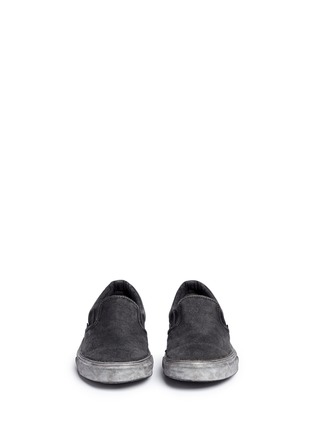 Front View - Click To Enlarge - Vans - 'Classic' washed paisley print skate slip-ons