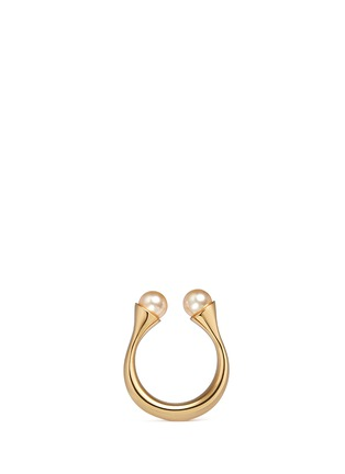 Main View - Click To Enlarge - Chloé - 'Darcey' Swarovski pearl open brass ring