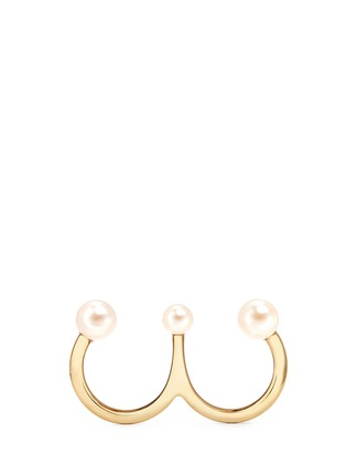 Main View - Click To Enlarge - Chloé - 'Darcey' Swarovski pearl two finger ring
