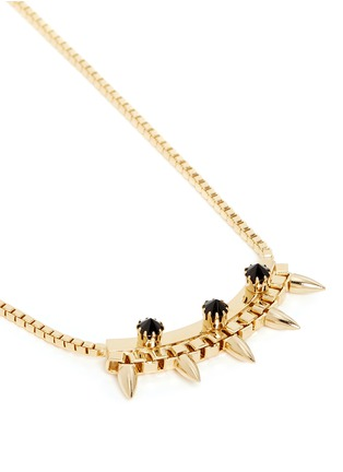 Detail View - Click To Enlarge - Joomi Lim - 'Love Thorn' crystal spike bar chain necklace