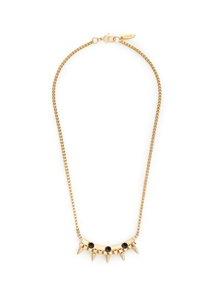 Main View - Click To Enlarge - Joomi Lim - 'Love Thorn' crystal spike bar chain necklace