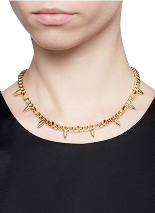 Figure View - Click To Enlarge - Joomi Lim - 'Love Thorn' spike box chain necklace