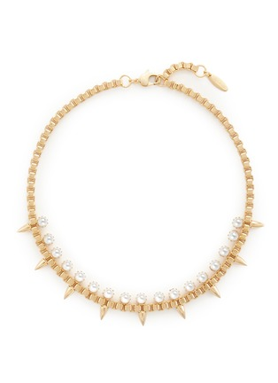 Main View - Click To Enlarge - Joomi Lim - 'Love Thorn' faux pearl spike chain necklace