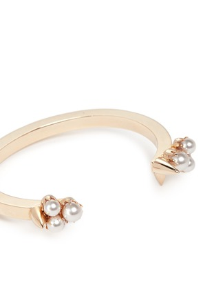 Detail View - Click To Enlarge - Joomi Lim - 'Love Thorn' faux pearl spike open cuff