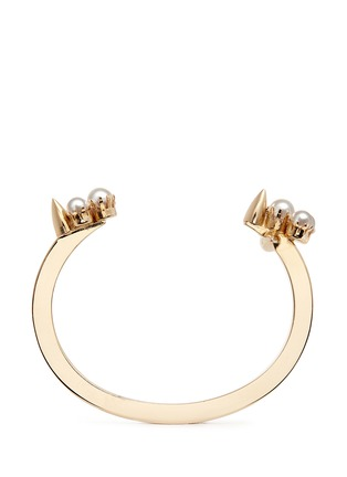 Figure View - Click To Enlarge - Joomi Lim - 'Love Thorn' faux pearl spike open cuff