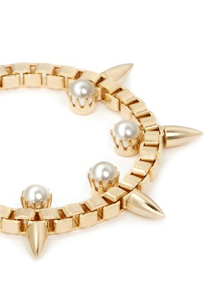 Detail View - Click To Enlarge - Joomi Lim - 'Love Thorn' spike pearl chain bracelet