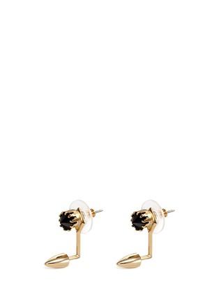 Main View - Click To Enlarge - JOOMI LIM - 'Love Thorn' crystal floating spike stud earrings