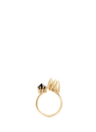Figure View - Click To Enlarge - Joomi Lim - 'Love Thorn' crystal spike asymmetric cutout ring