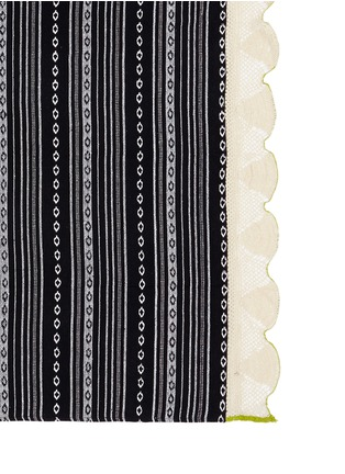 Detail View - Click To Enlarge - Band Of Martians - 'Cruise' ikat crochet handwoven blanket