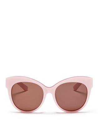 Main View - Click To Enlarge - BLANC & ECLARE - 'Paris' pearlescent acetate cat eye sunglasses