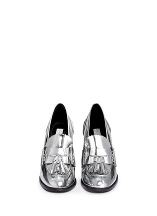 Figure View - Click To Enlarge - STELLA MCCARTNEY - 'Hackney' mirror eco leather block heel loafers