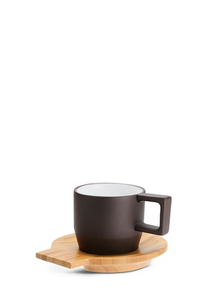 Main View - Click To Enlarge - JIA Inc. - Purple clay espresso cup and saucer set