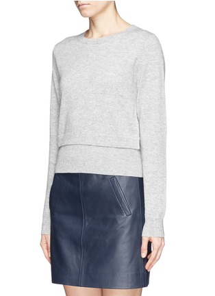Front View - Click To Enlarge - SANDRO - Double layer hem sweater