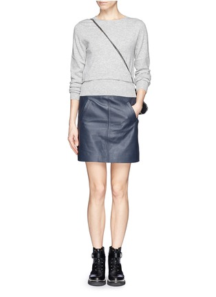 Figure View - Click To Enlarge - SANDRO - Double layer hem sweater