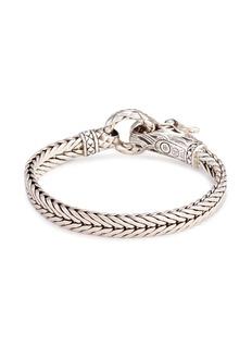 John Hardy Sapphire silver Naga weave effect chain bracelet