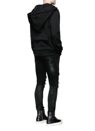 Figure View - Click To Enlarge - Hood By Air - 'Bret' American psycho embroidery zip hoodie
