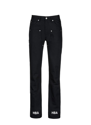 Main View - Click To Enlarge - Hood By Air - 'Double sag' logo print cuff jeans