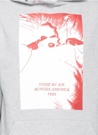 Detail View - Click To Enlarge - Hood By Air - 'America Winds' print thumb hole slot hoodie