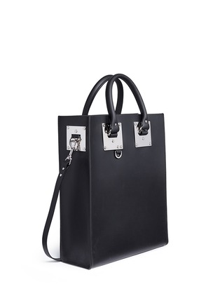 Front View - Click To Enlarge - Sophie Hulme - 'Albion' rectangle leather box tote