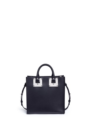 Back View - Click To Enlarge - SOPHIE HULME - 'Albion Square' leather box tote