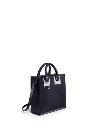 Front View - Click To Enlarge - SOPHIE HULME - 'Albion Square' leather box tote