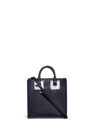 Main View - Click To Enlarge - SOPHIE HULME - 'Albion Square' leather box tote