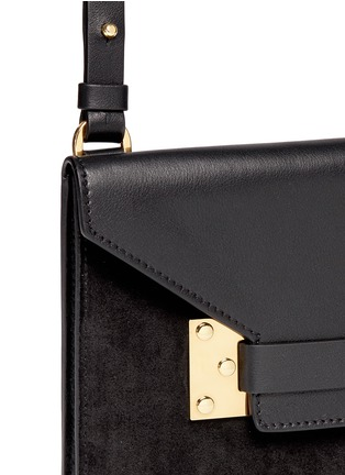 Detail View - Click To Enlarge - Sophie Hulme - 'Milner Double' leather suede combo shoulder bag