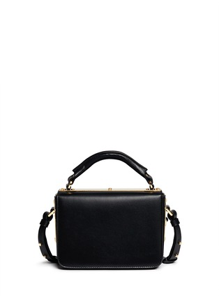 Back View - Click To Enlarge - Sophie Hulme - 'Finsbury' leather shoulder bag