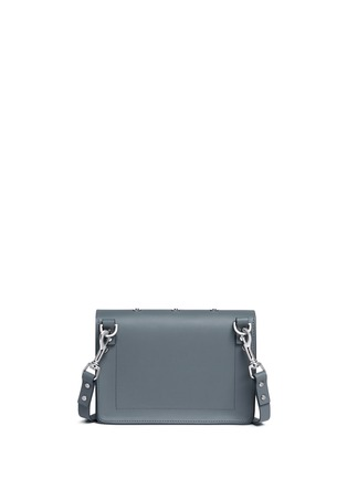 Back View - Click To Enlarge - SOPHIE HULME - 'Milner' mini heart stud envelope leather crossbody bag