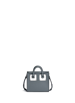 Back View - Click To Enlarge - SOPHIE HULME - 'Albion' heart stud soft leather box tote