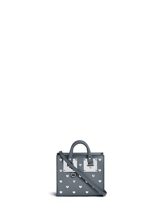 Main View - Click To Enlarge - SOPHIE HULME - 'Albion' heart stud soft leather box tote