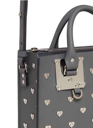 Detail View - Click To Enlarge - Sophie Hulme - 'Albion Square' heart stud leather box tote