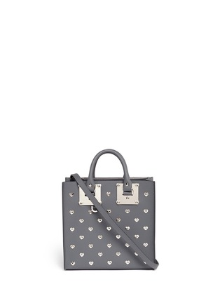 Main View - Click To Enlarge - Sophie Hulme - 'Albion Square' heart stud leather box tote