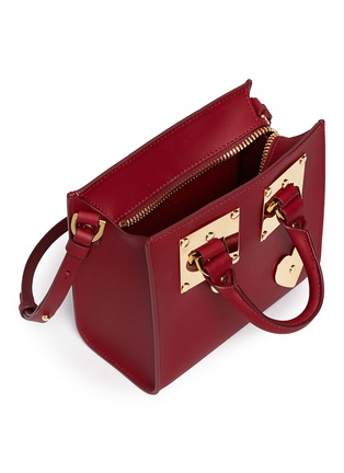 Detail View - Click To Enlarge - Sophie Hulme - 'Albion' heart plate soft leather box tote