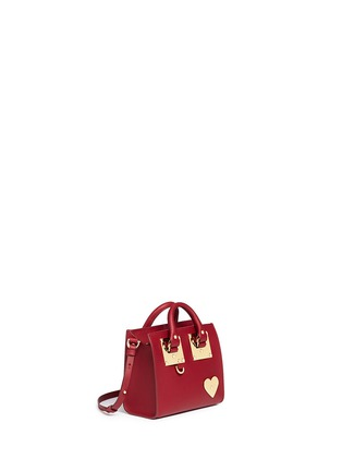Front View - Click To Enlarge - Sophie Hulme - 'Albion' heart plate soft leather box tote