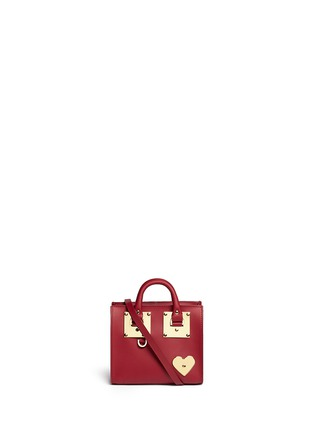 Main View - Click To Enlarge - Sophie Hulme - 'Albion' heart plate soft leather box tote