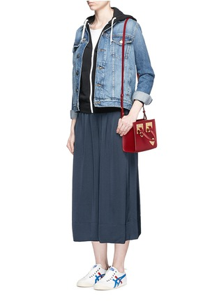 Figure View - Click To Enlarge - Sophie Hulme - 'Albion' heart plate soft leather box tote