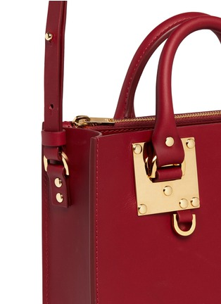 Detail View - Click To Enlarge - Sophie Hulme - 'Albion' heart plate square leather box tote