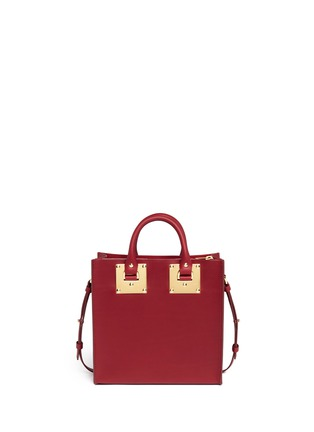 Back View - Click To Enlarge - Sophie Hulme - 'Albion' heart plate square leather box tote