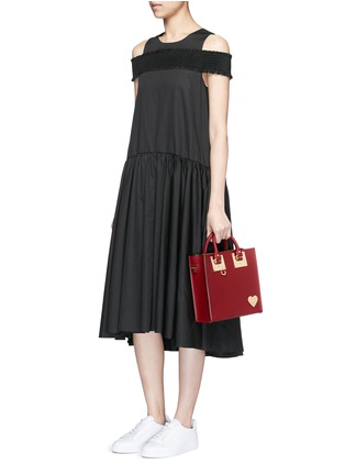 Figure View - Click To Enlarge - Sophie Hulme - 'Albion' heart plate square leather box tote