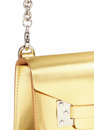 Detail View - Click To Enlarge - Sophie Hulme - 'Milner Nano' metallic leather crossbody bag