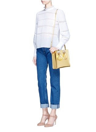 Figure View - Click To Enlarge - Sophie Hulme - 'Albion Square' metallic leather box tote
